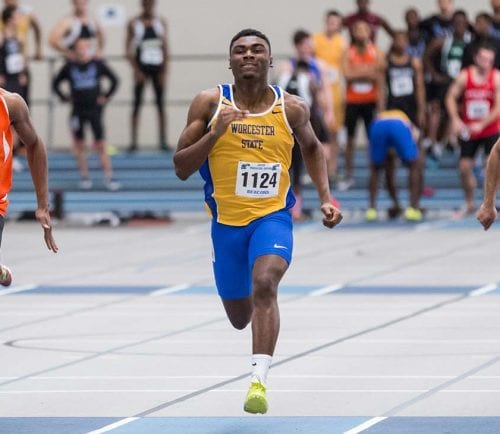Jalil Gibson, a Lynn English alum, has built a strong freshman season at Worcester State this winter.