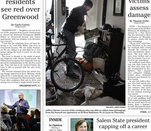 January 6, 2017 Front Page