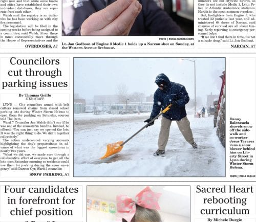 January 9, 2017 Front Page
