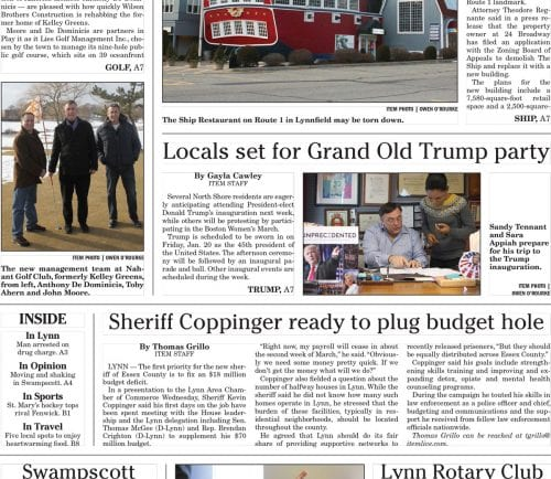 January 12, 2017 Front Page