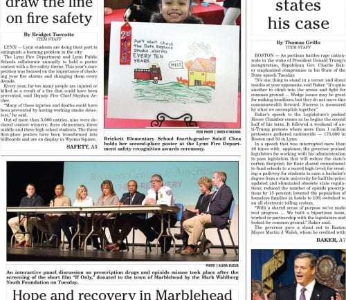 January 25, 2017 Front Page