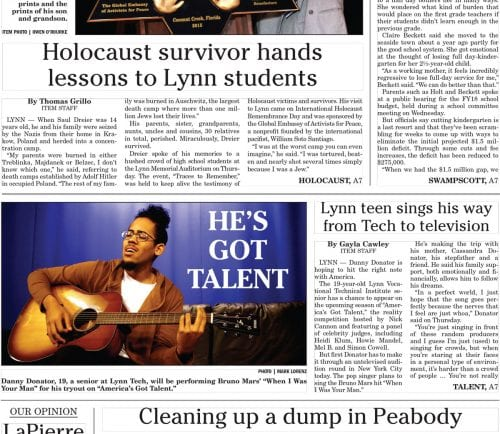 January 27, 2017 Front Page