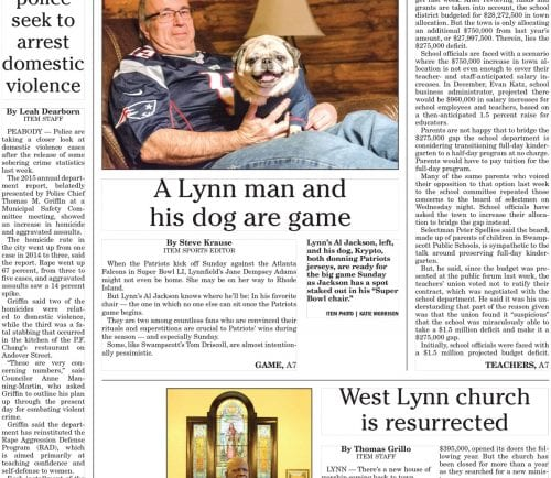 February 3, 2017 Front Page