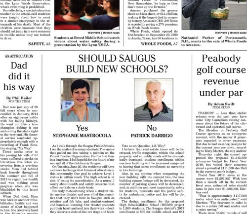 June 17, 2017 Front Page