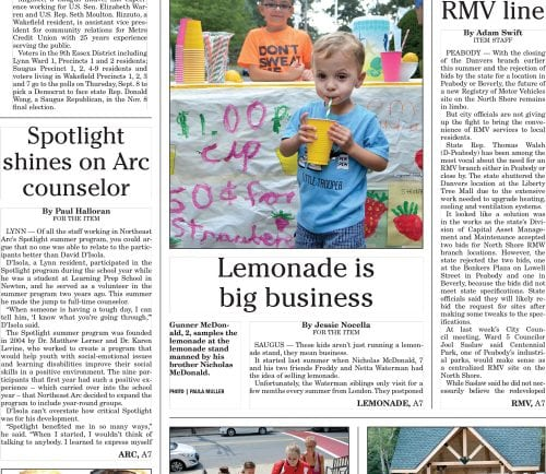 August 29, 2016 Front Page