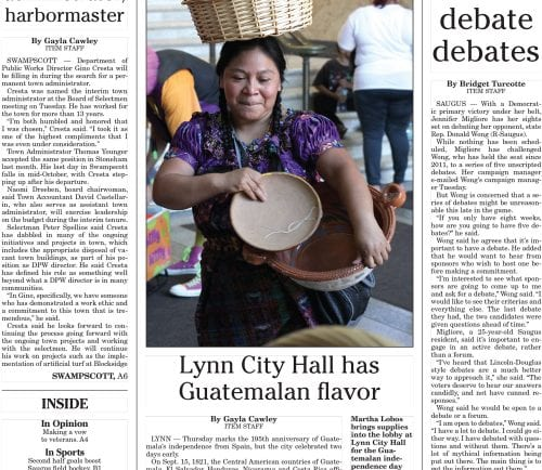 September 14, 2016 Front Page
