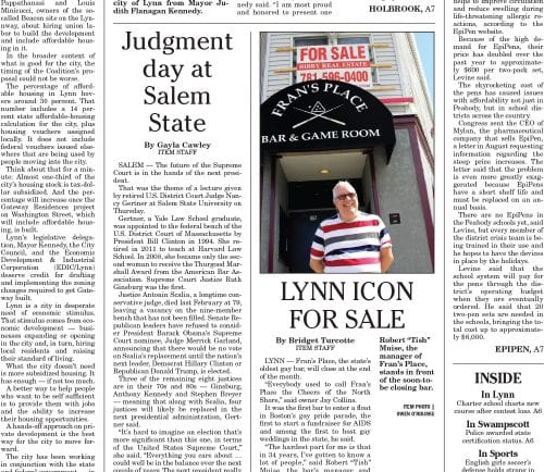 September 16, 2016 Front Page