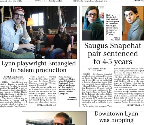 September 17, 2016 Front Page