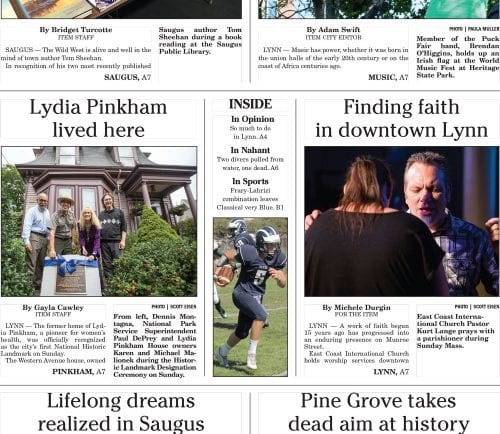 September 19, 2016 Front Page
