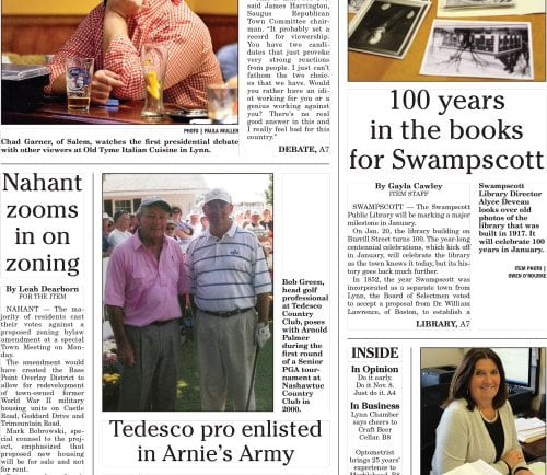 September 27, 2016 Front Page