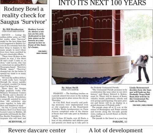 September 30, 2016 Front Page