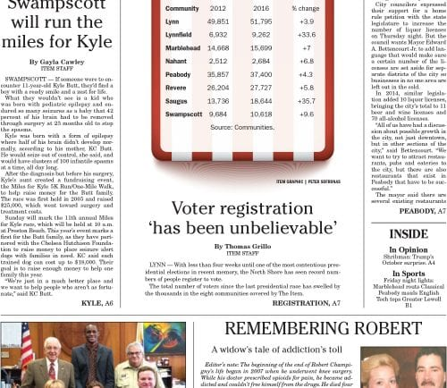 October 15, 2016 Front Page