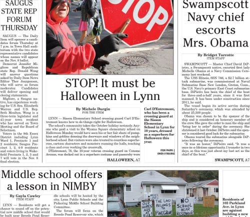 November 1, 2016 Front Page