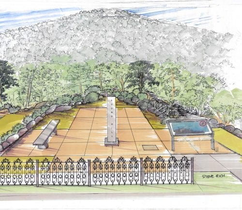 An artist's rendering of the new Round Hill site.