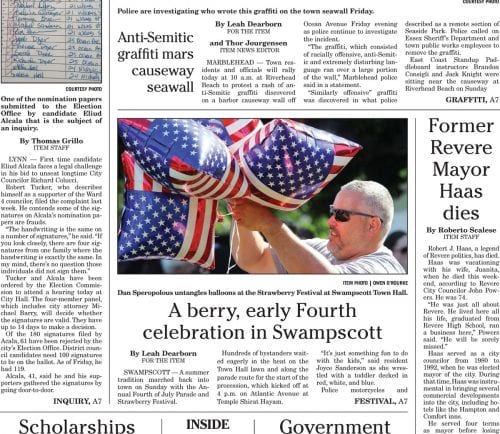 July 3, 2017 Front Page