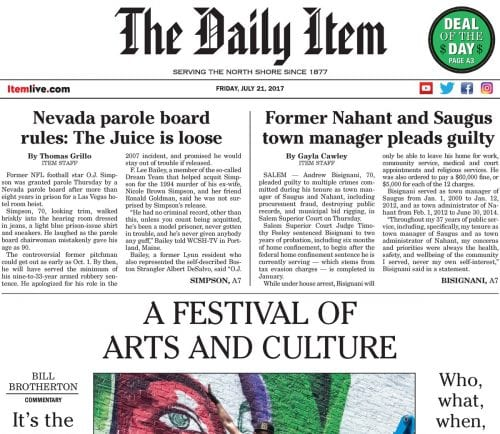 July 21, 2017 Front Page