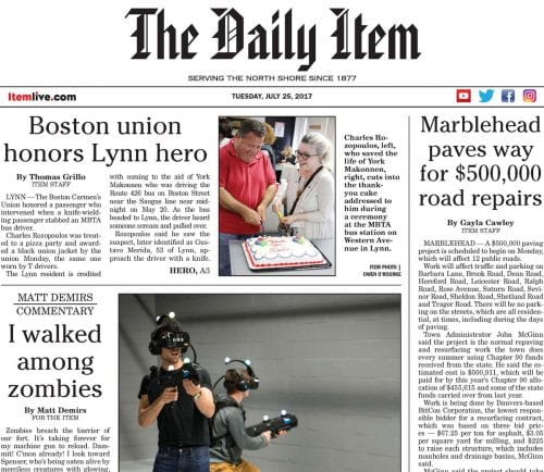 July 25 Front Page