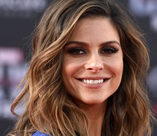 Maria Menounos smiles on the red carpet