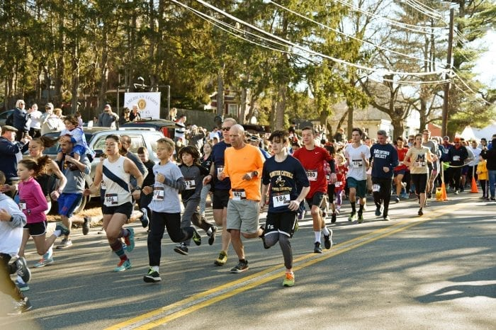 Over 500 runners participated in the fifth annual Jingle Bell 5K Run/Walk on November 25 to raise money for Medford schools.
