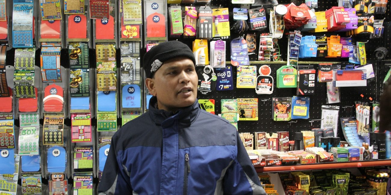 Lynn, Ma. 1-16-18. Abu Sayed, the owner of the Sunrise Convenience Store on Chatham Street Lynn saying there should be more police presence.