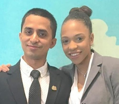 Malden resident Tabish Iqbal, left, was recently named as a Ray Kroc Award winner, whose recipients represent the top 1 percent of all McDonald's restaurants worldwide. Iqbal, at left, is shown above with his assistant manager, Djamilia Dossantos. He manages the McDonald's restaurant at 128 Lower Broadway, Everett.