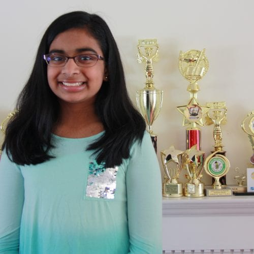 Ashrita Gandhari hopes to win another spelling regional championship in Lynn this week.