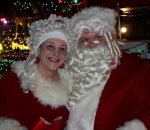 Thomas Laramie and Janet Melanson dressed as Mr. and Mrs. Claus at last year's Christmas Parade in Lynn.