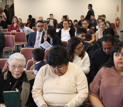 Parishioners at the new location of The Church of Jesus Christ of Latter-Day Saints on 15 Bubier road in Lynn.