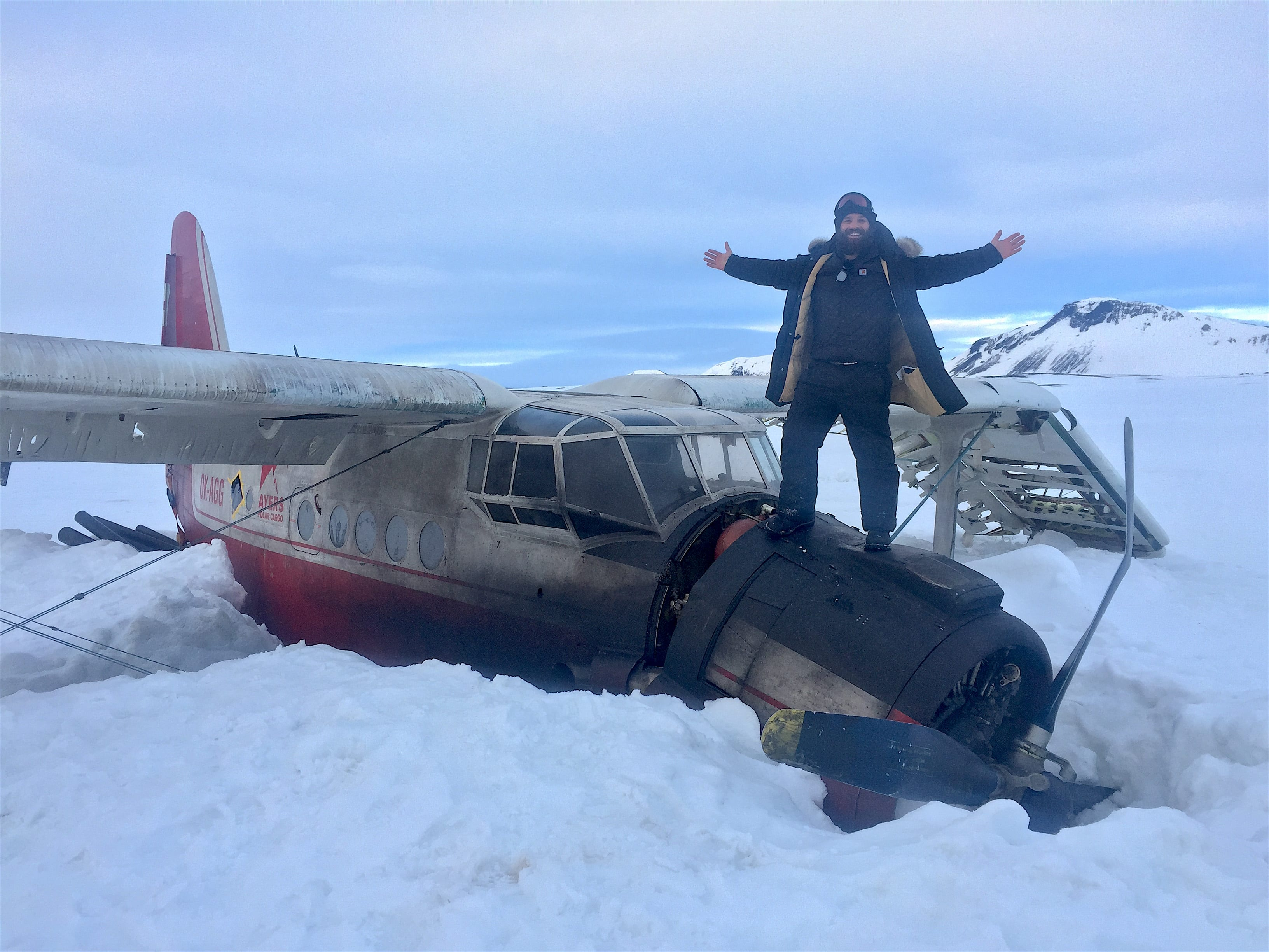 Former Lynner Ryan Morrison on set of his first feature film 'Arctic' on location in Iceland.