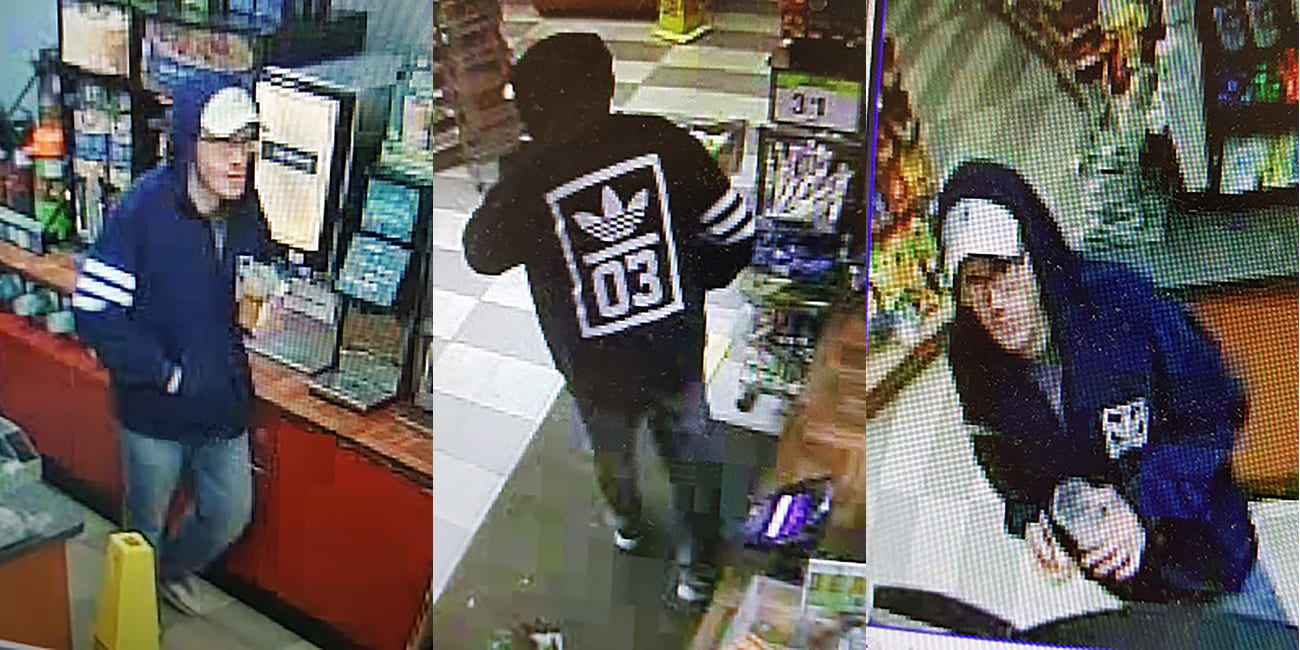 Lynn police are searching for this man, who they believe used a hypodermic needle to rob a convenience store.