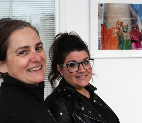 Lynn, Ma. 4-10-18. Carla Scheri, left, and Carolyn Cole from the Lynn Cultural District team are spearheading the local ArtWeek events April 27 through May 6.