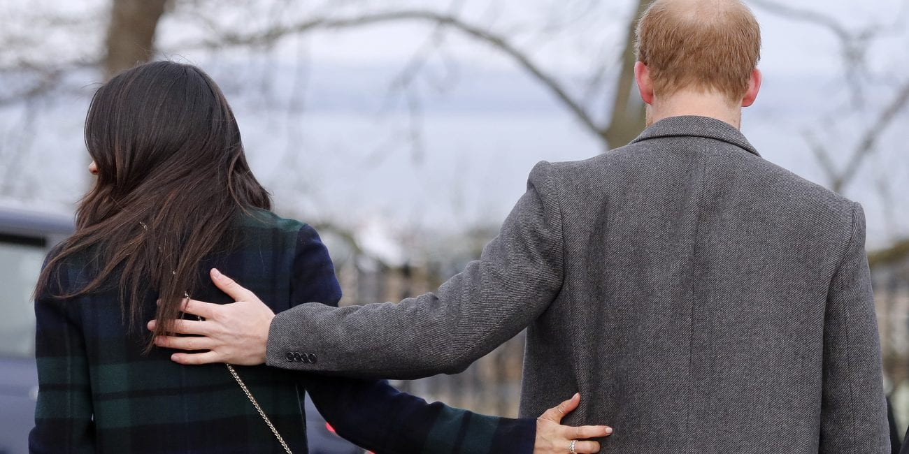 "FILE - In this file photo dated Tuesday, Feb. 13, 2018, Britain's Prince Harry and his fiancee Meghan Markle arrive at Edinburgh Castle in Edinburgh, Scotland. Kensington Palace said Monday May 14, 2018, that Britain's Prince Harry and Meghan Markle are requesting ""understanding and respect"" for Markle's father after a celebrity news site reported he would not be coming to the royal wedding to walk his daughter down the aisle. (AP Photo/Frank Augstein, FILE)"
