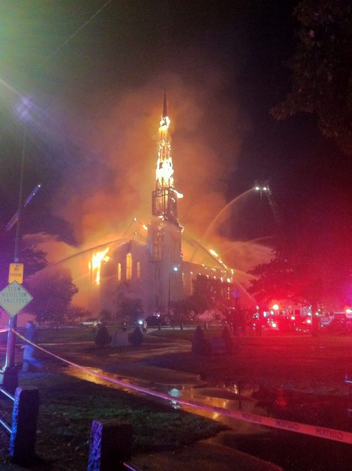 Local Departments Come To Wakefields Aid As A M Ive Fire Consumes A Historic Church