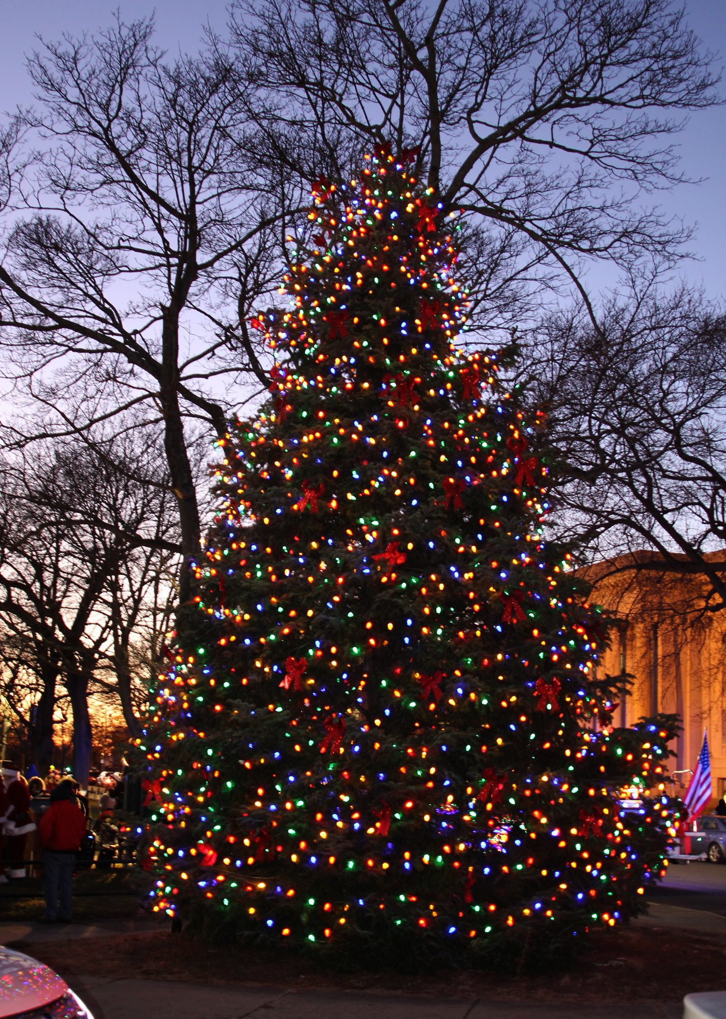 holidays with its annual tree lightning