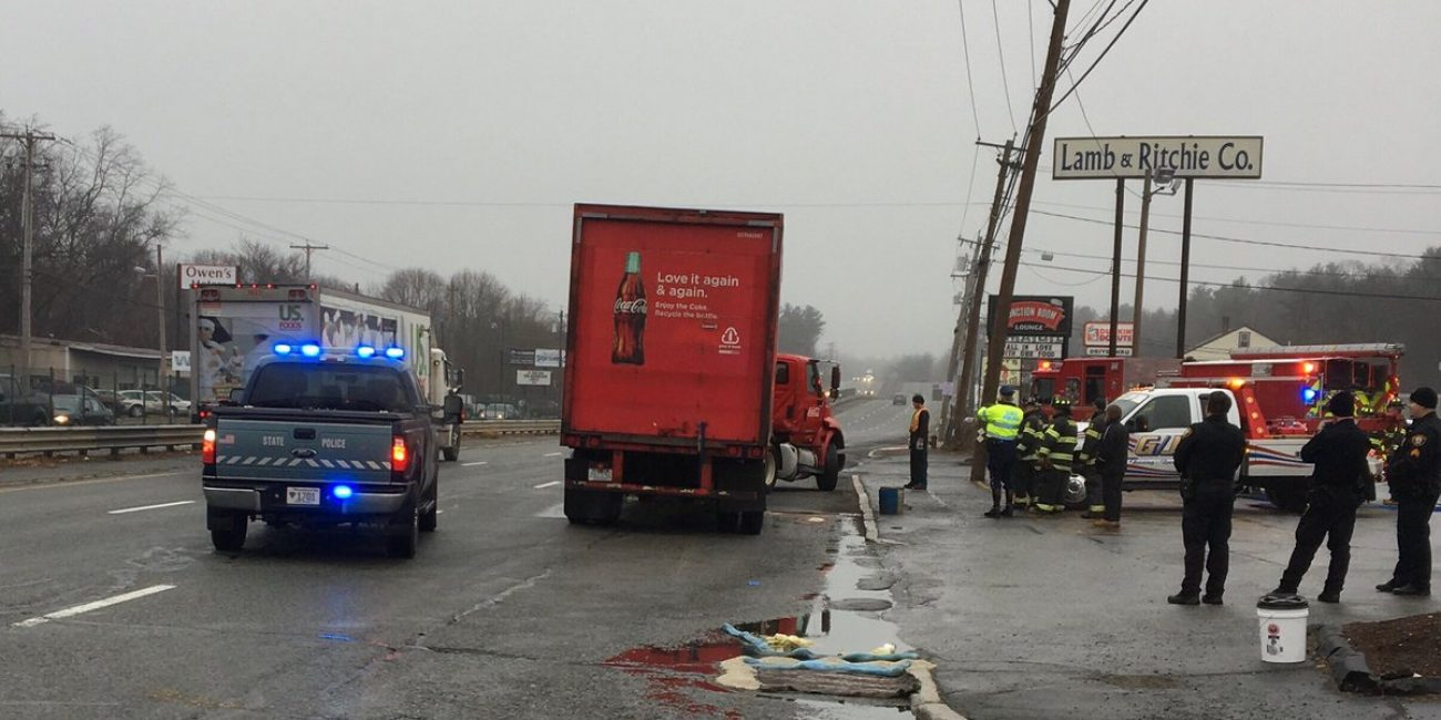 Route 1 North reopens after Coca-cola truck accident - Itemlive