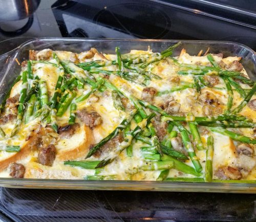 Ann Steriti of Periwinkles Food Shoppe is back with a delicious easter dish: overnight egg, sausage & asparagus strata.