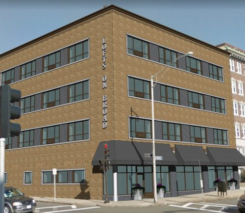 An artist's rendering of the planned development of the 113-119 Broad Street building in Lynn.