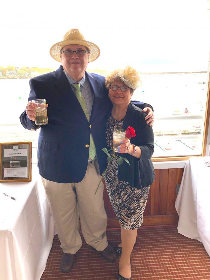Steve Krause and his wife Linda at the Boston Yacht Club