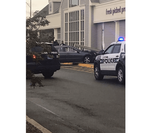 5-1-19, The scene of a car crashed into Stop & Shop on Washington Street in Lynn.