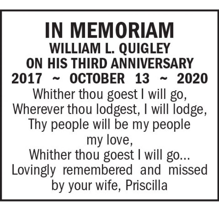 In Memoriam: William L. Quigley